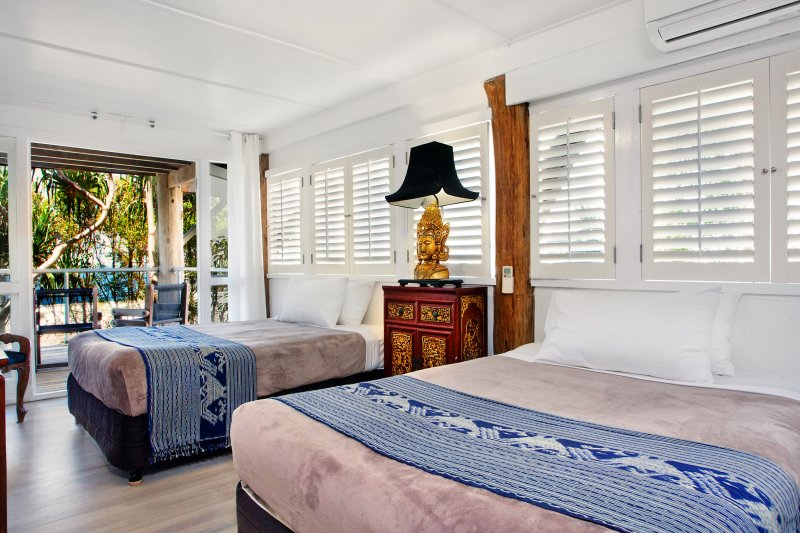 Spacious bedroom with 2 double beds, 22 McAnally Drive Sunshine Beach