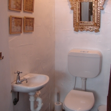 Powder room next to open air hot/cold shower in the bamboo, 22 McAnally Drive Sunshine Beach