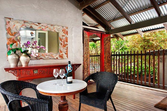 Intimate alfresco area off kitchen, 22 McAnally Drive Sunshine Beach