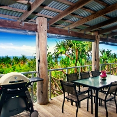 Weber family BBQ on ocean deck, 22 McAnally Drive Sunshine Beach