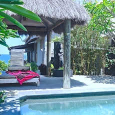 Relax around the private pool, 22 McAnally Drive Sunshine Beach